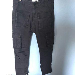 Fashion nova black cargo pants